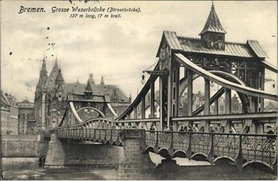 Grße Weserbrücke Bremen